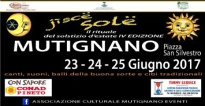 MUTIGNANO - JISCE SOLE dal 23 al 25/06/2017