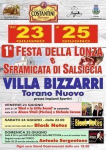 Villa Bizzarri di Torano Nuovo - FESTA DELLA LONZA  e della  SFRAMICATA DI SALSICCIA dal 23 al 25/06/2017
