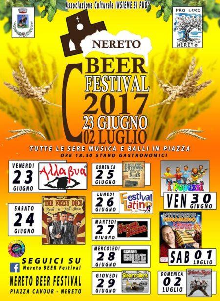 NERETO BEER FESTIVAL  2017 dal 23/06 al 2/07/2017