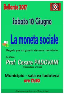 BELLANTE  - LA MONETA SOCIALE 10 GIUGNO 2017