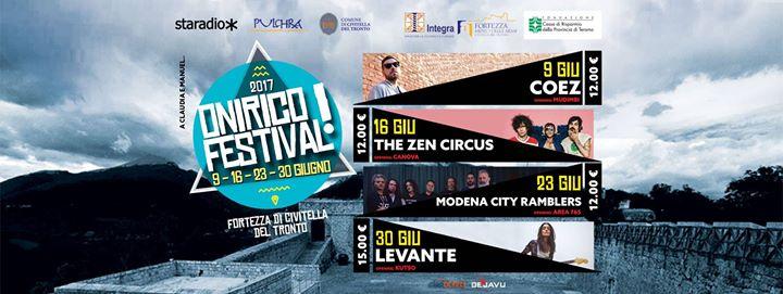 ONIRICO FESTIVAL 2017 9/16/23/30 giugno 2017