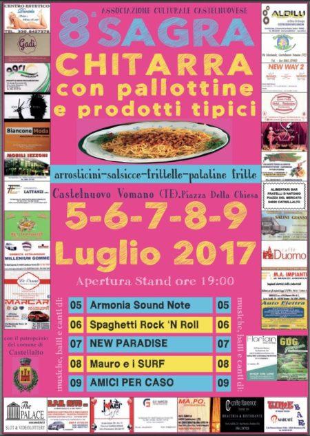 Castelnuovo Vomano - SAGRA DELLA CHITARRA  con pallottine e prodotti tipici dal 5 al 9 luglio 2017