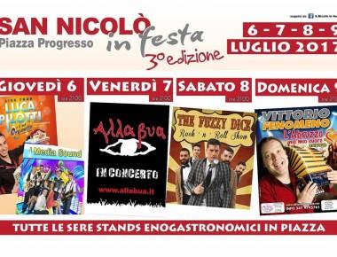 SAN NICOLO' IN FESTA dal 6 al 9 luglio 2017