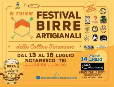 Notaresco - FESTIVAL  BIRRE  ARTIGIANALI  dal 13 al 16 luglio 2017
