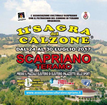 Scapriano di Teramo - SAGRA DEL CALZONE dal 24 al 30 luglio 2017