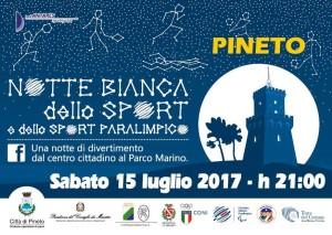 Pineto - Notte bianca dello sport e dello sport paralimpico 15 luglio 2017