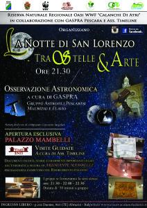 La Notte di San Lorenzo tra Stelle ed Arte br