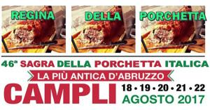 Campli - SAGRA DELLA PORCHETTA ITALICA dal 18 agosto al 22 agosto 2017