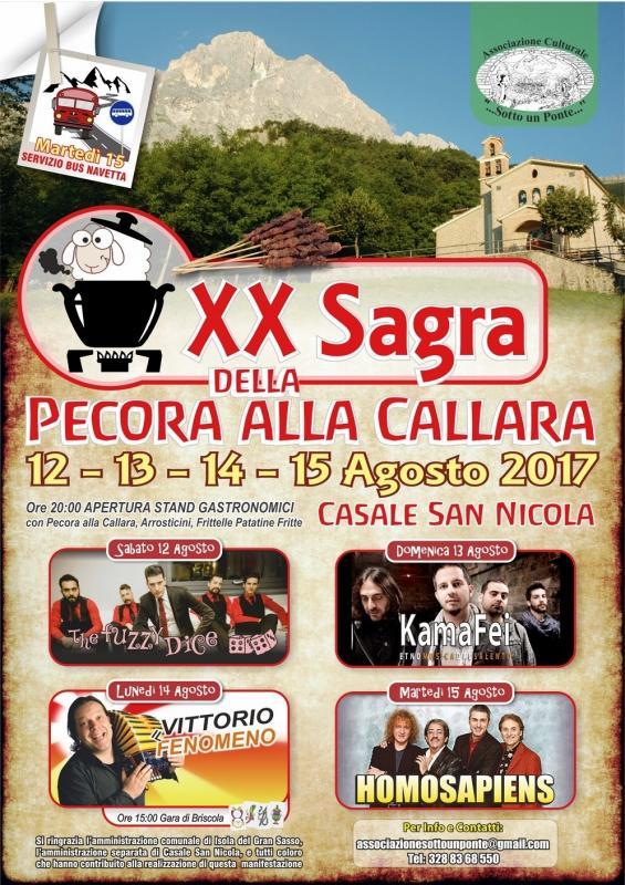 Casale San Nicola - Sagra Della Pecora Alla Callara dal  12 al 15 Agosto 2017