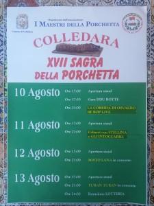Colledara - SAGRA DELLA PORCHETTA dal 10 al 13 agosto 2017