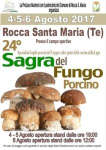 Rocca Santa Maria - SAGRA DEL FUNGO PORCINO dal 4 al 6 agosto 2017