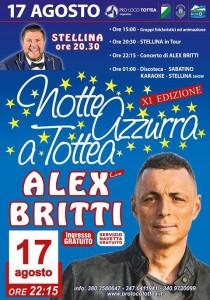 Tottea di Crognaleto - NOTTE AZZURRA Alex Britti live 17 agosto 2017