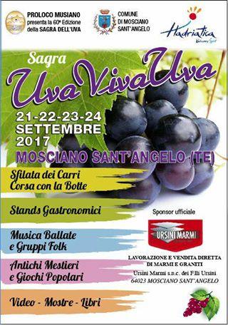 Mosciano Sant' Angelo - UvaVivaUva dal 21 al 24 settembre 2017