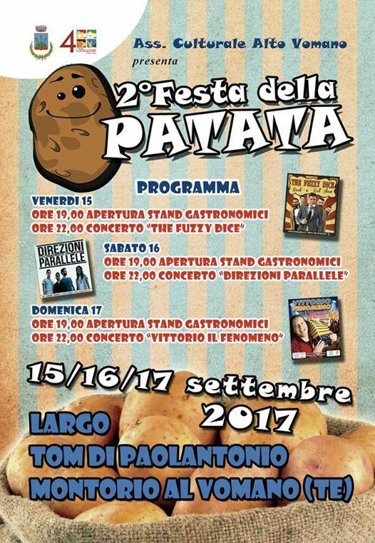 Montorio Al Vomano - 2° Festa della PATATA dal 15 al 17 settembre 2017