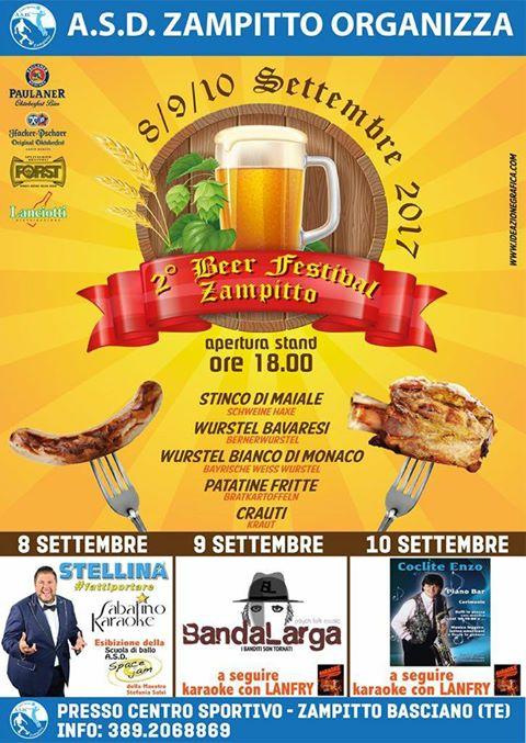 BEER FESTIVAL ZAMPITTO dal 8 al 10 settembre 2017