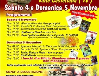 Valle Castellana - SAGRA DELLA CASTAGNA e DELLA PATATA 4-5 novembre 2017