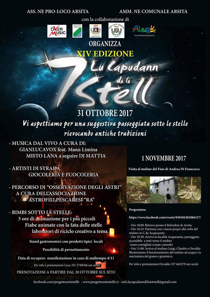 Arsita - LU CAPUDANN DI LI SETT STELL 31 ottobre 2017