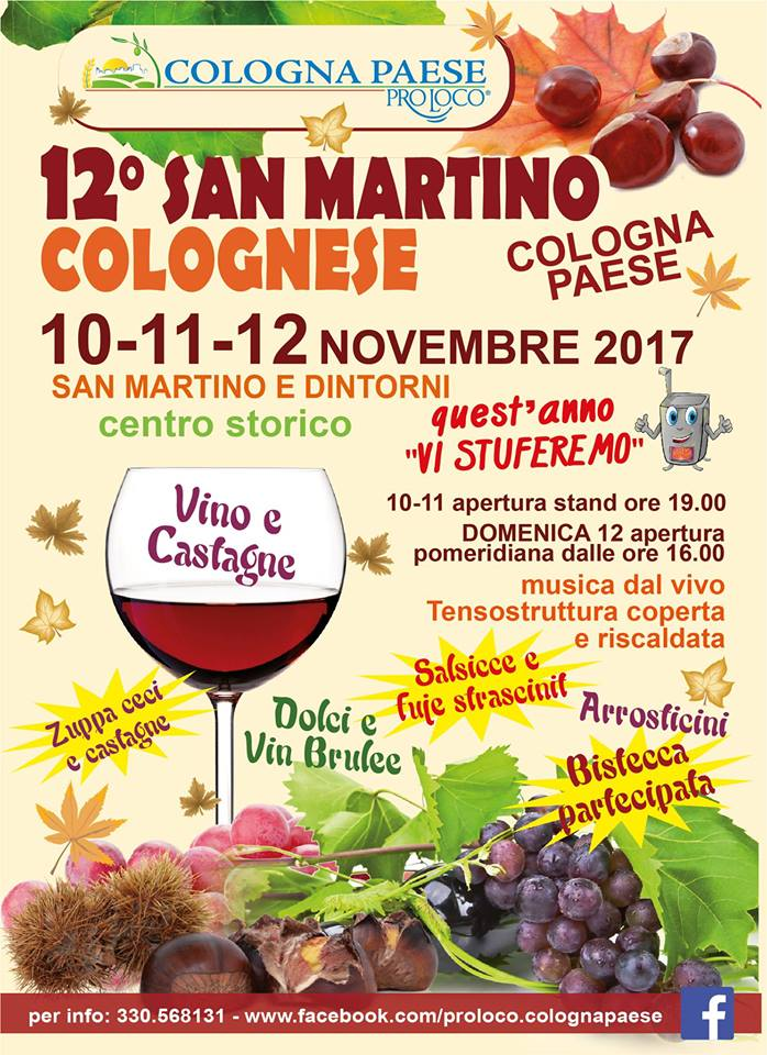 SAN MARTINO COLOGNESE dal 10 al 12 novembre 2017