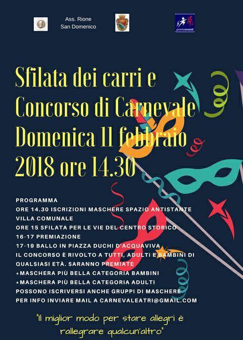 Carnevale ad Atri 11 febbraio 2018