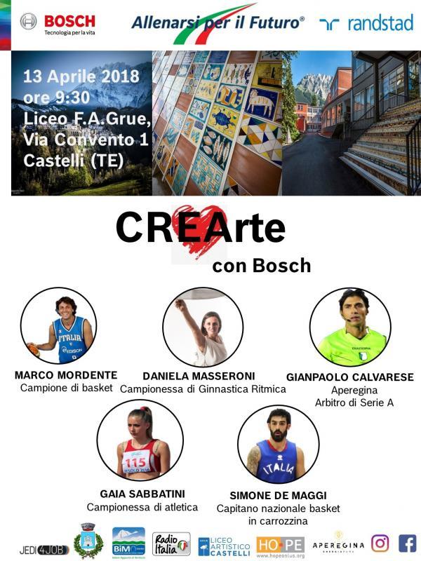 """""""CREArte"""" a Castelli 13 Aprile 2018"""