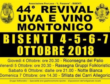 Bisenti - 44° REVIVAL UVA E VINO MONTONICO dal 4 al 7 ottobre 2018