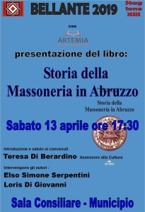 """""""Storia della Massoneria in Abruzzo"""" 13 APRILE 2019"""