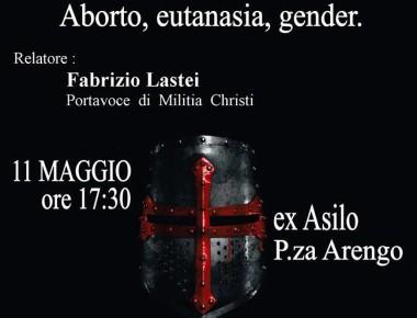 """BELLANTE paese - """"L'attacco alla sacralità della vita. Aborto, Eutanasia, Gender"""". 11 MAGGIO 2019"""