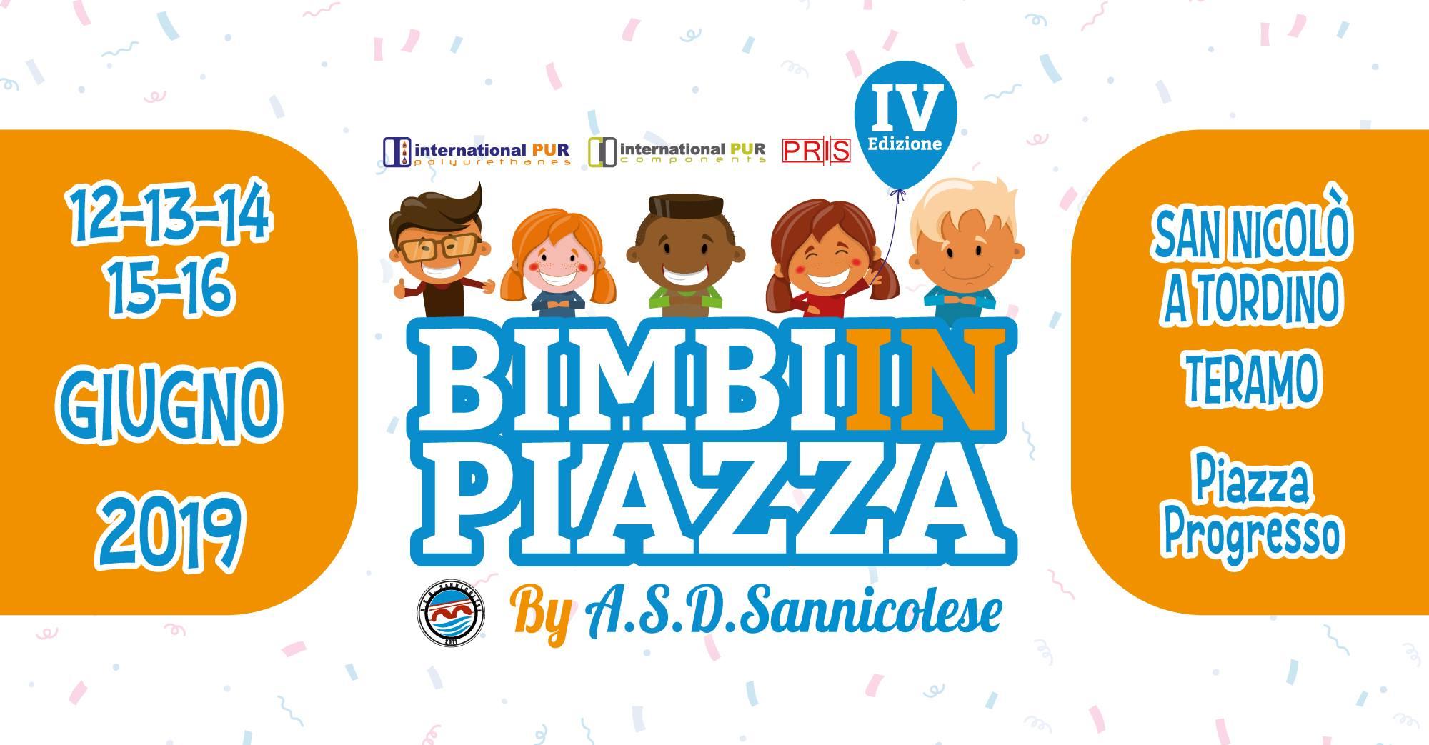 San Nicolò a  Tordino - Bimbi in Piazza dal 12 al 16 Giugno 2019