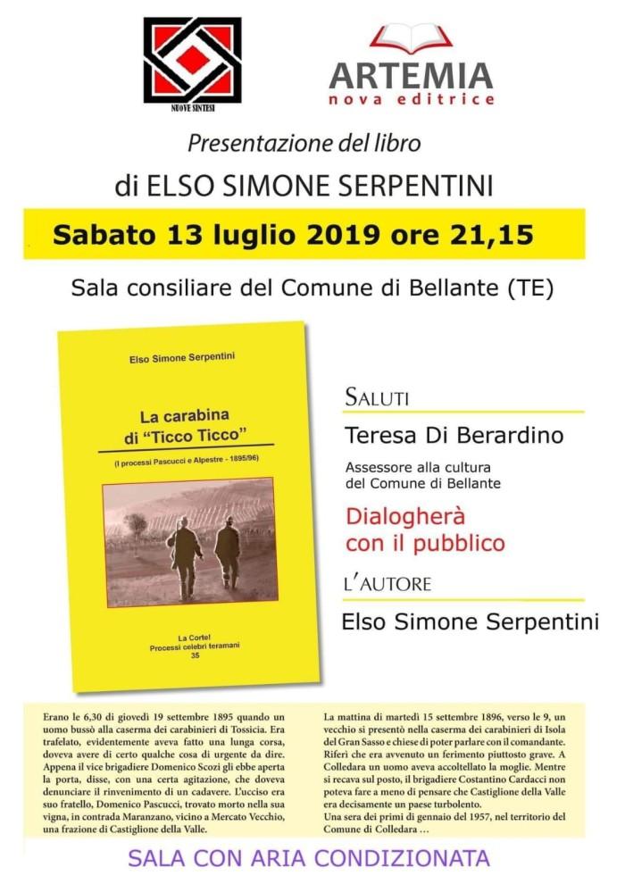 """BELLANTE paese - """"La carabina di Ticco Ticco"""" 13 LUGLIO 2019"""