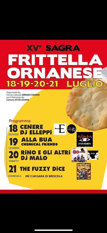 Ornano Grande di Colledara -XV sagra della FRITTELLA ORNANESE dal 18 al 21 luglio 2019