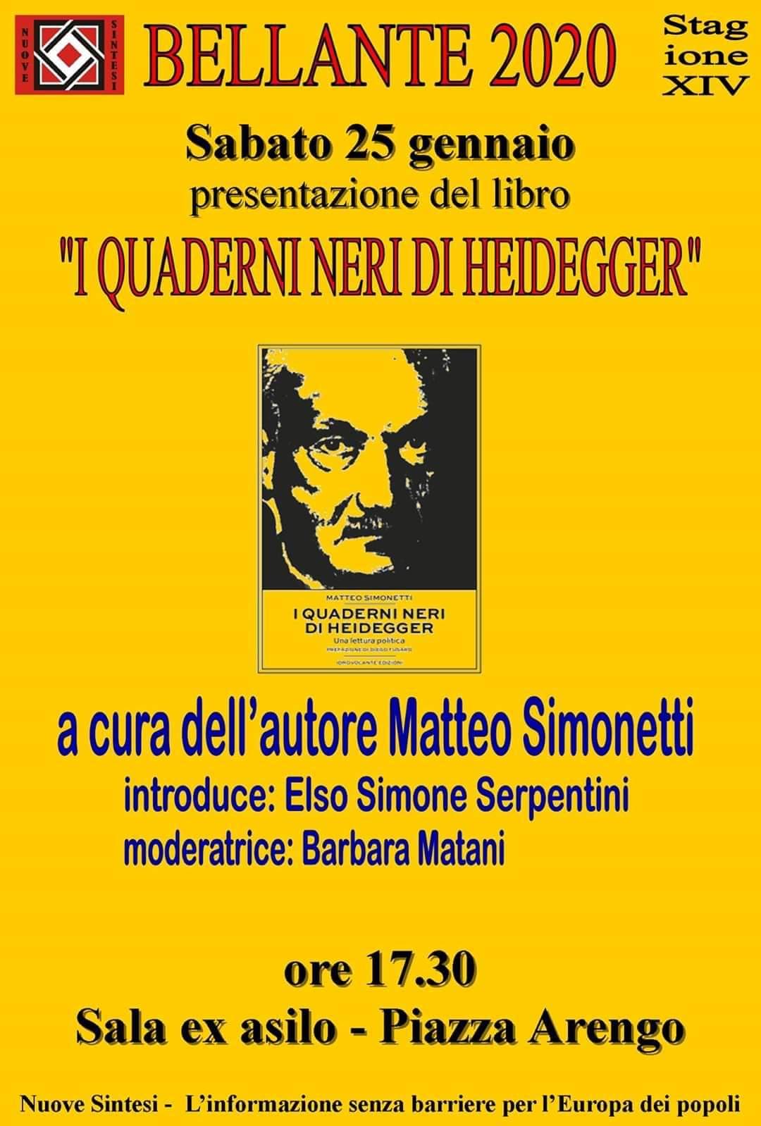 """""""I QUADERNI NERI DI HEIDEGGER"""""""