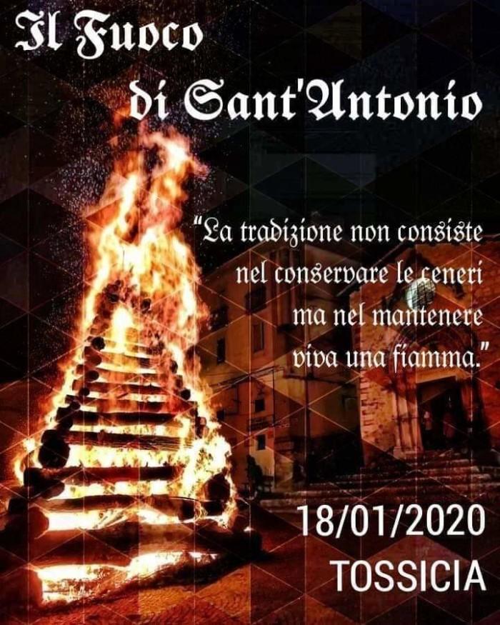 Tossicia - Fuoco di Sant'Antonio  24 gennaio 2020